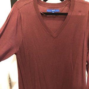 Apt 9 burgundy light sweatshirt tunic